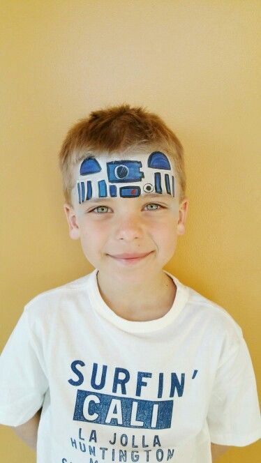 R2 D2 facepaint by fanciful facepainting