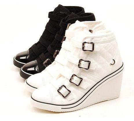 Canvas High Heels Sneakers | Feeding my mad shoe addiction ...