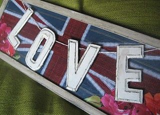 How to Make Faux Tin Letters and a Union Jack
