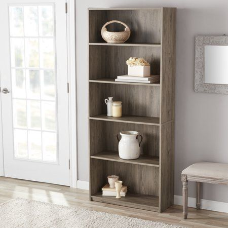 352dffa3b468bb8b842f157f512fa4db - Better Homes And Gardens Crossmill 5 Shelf Bookcase Multiple Finishes
