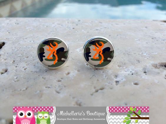 Camo Deer Earrings, Camo Jewelry, Camo Accessories, Deer Gifts, Camo Gifts, ,Gifts for Her, Gifts under 10 by MichelleriesBoutique on Etsy https://www.etsy.com/listing/252348470/camo-deer-earrings-camo-jewelry-camo