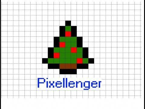 Small Simple Christmas Tree How To Draw Pixel Art Minecraft