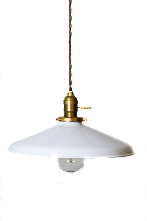 industrial gloss white 12 porcelain enamel shade edison pendant light antique brass or chrome antique industrial pendant lights white