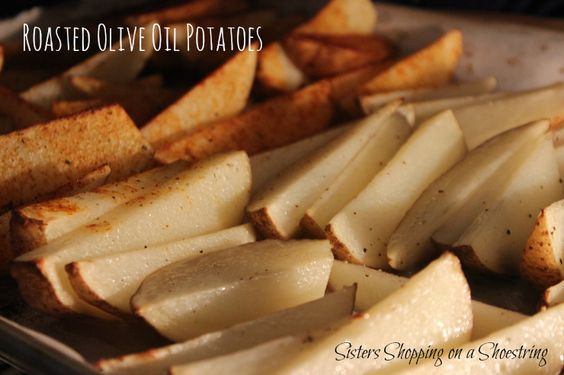 Roasted Potatoes recipe.  You can dress up just about any dinner, casual or fancy, with these tasty wedges.  If you've been following me for any amount of time, I go for easy!  These don't disappoint in taste or ease of preparation!