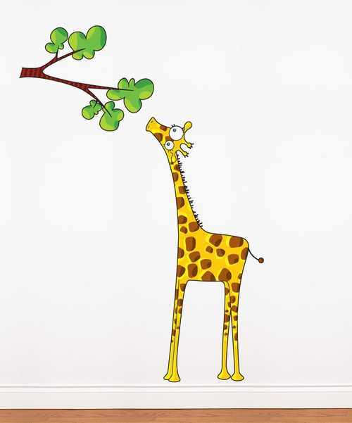 Take a look at the Madam Giraffe Wall Decal on #zulily today!