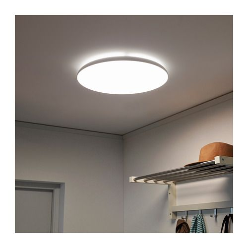 Nymane Led Ceiling Lamp White Ikea Ceiling Lamp Ceiling Lamp White Kitchen Ceiling Lights