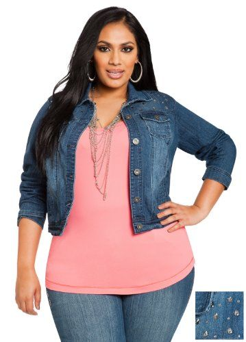 Denim and Co Woman Plus-Size Genuine Leather Suede Jacket | Jean