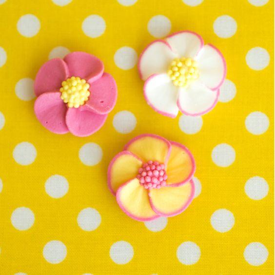 Fleurs sucre décor gâteaux
