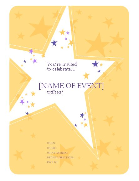 partyinvitationflyerword Free Flyer Designs – Invitation Templates Free Word
