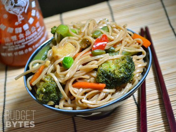 Teriyaki Noodle Bowl (I want to try this with zucchini noodles!)