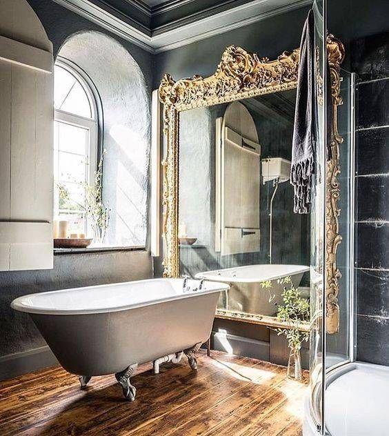 Franzosisch Badezimmer Dekor Fliesen Vintage Bathroom French Landhaus Salle Retro Bai Country Bathroom Designs Country Bathroom French Country Bathroom