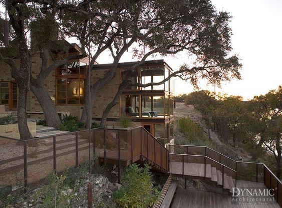 Window manufacturer. Modern Texas Home