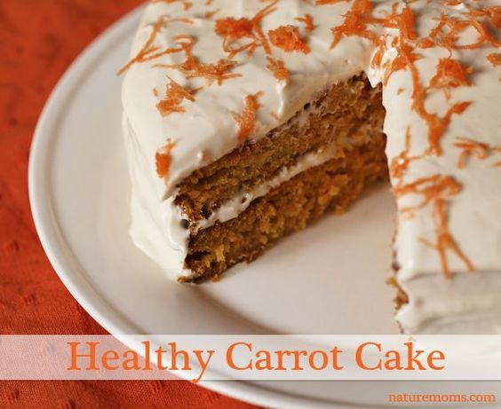 Healthy Carrot Cake » Nature Moms.