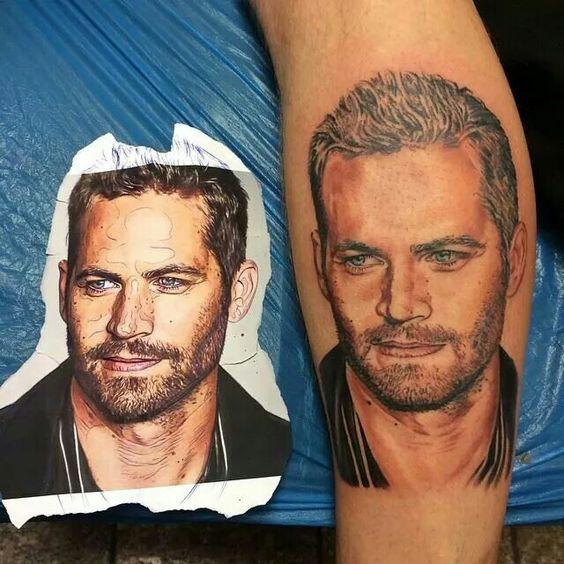 Paulwalker tattoo by Roman