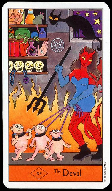 Halloween Tarot: The Devil. Find out what the Devil means for you: www.tarotbyemail.com