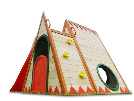 kinderspielhaus stelzenhaus aus holz mit rutsche amazon. Black Bedroom Furniture Sets. Home Design Ideas