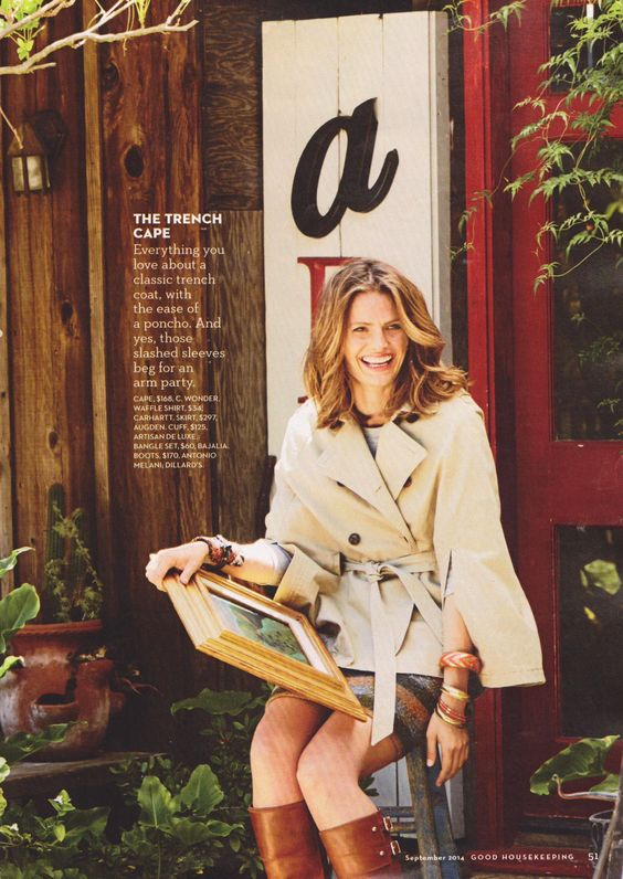 Stana Katic and the Trench cape.