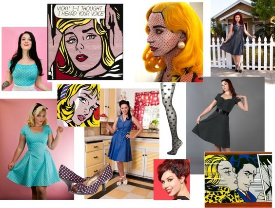 Retro Pop Art Halloween Costume Ideas - featuring Heart of Haute! #HeartofHaute #Pinup #PopArt #Halloween #CostumeIdeas