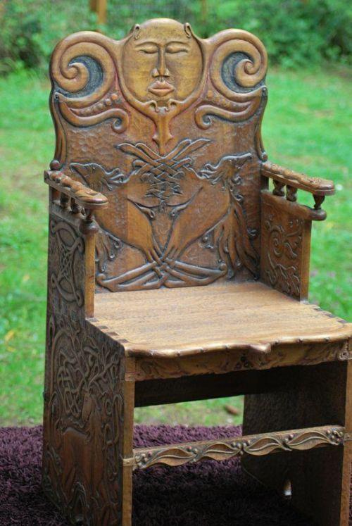 Coolkenack Celtic Chair From Irish Scottish Viking Furniture