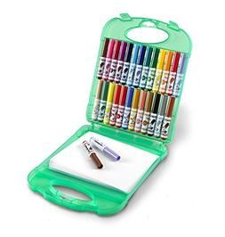 Crayola Pip-Squeaks Washable Markers /& Paper Set Ages 4 6 5 Kids Travel Activities 7