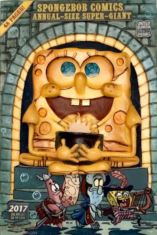 Spongebob Cake Magazine Cake Con International Divertido Assustador
