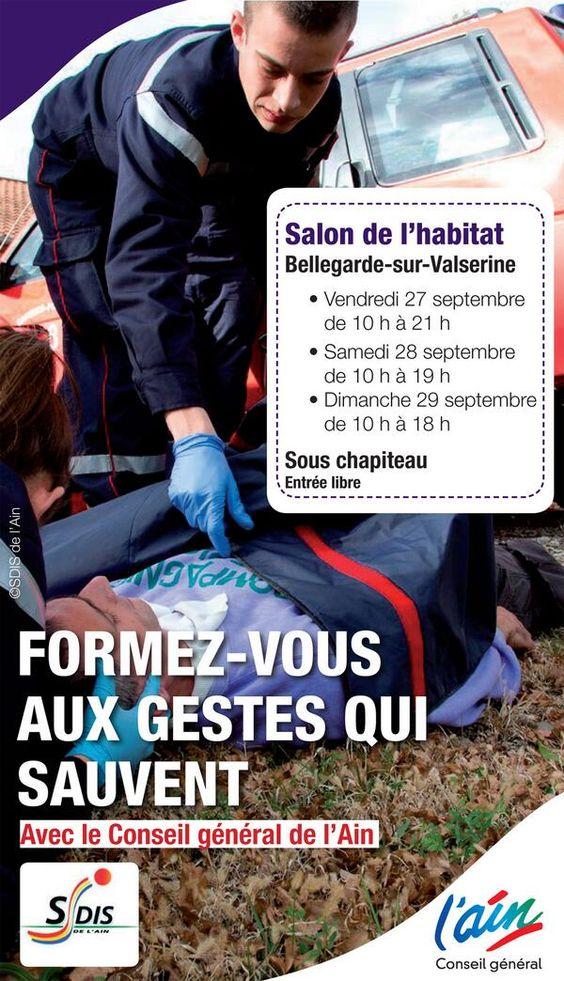 Formez vous aux gestes qui sauvent. Du 27 au 29 septembre 2013 à Bellegarde sur Valserine.