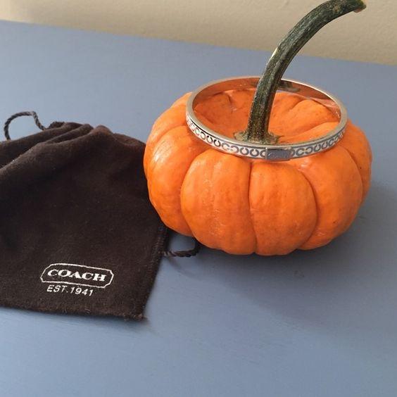 Coach Bangle with Modern C design Coach silver bangle. Comes with Coach jewelry bag! Coach Jewelry