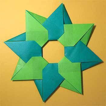 ハート 折り紙:折り紙クリスマスリースの折り方-jp.pinterest.com