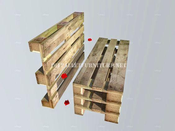 Muebles de palets como hacer un banco con palets paso por - Como hacer muebles con palets ...