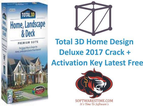 Total 3D Home Design Deluxe 2017 Crack + Activation Key Latest Free | Sara  | Pinterest | 3d