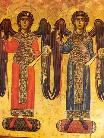 The Archangels Michael and Gabriel - Icon in the Monastery of St. Catherine