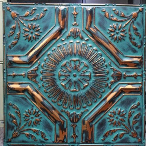 Copteal Color Painted Window Art Tin Ceiling Tiles Faux Tin Tiles
