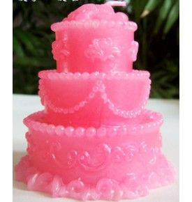 Birthday Cake Candle Pink First Birthday Party Pinterest