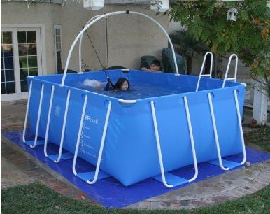 The ipool above ground exercise portable swimming pool for Portable pool