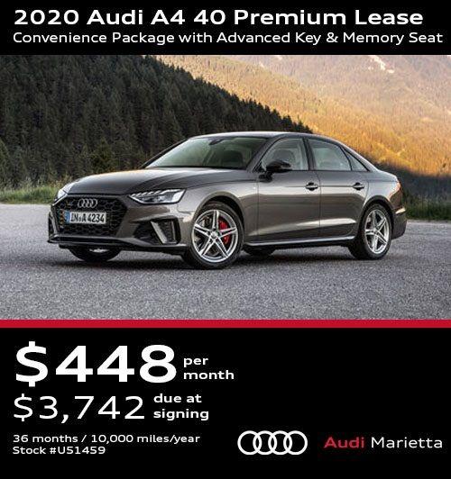 2020 Audi A4 40 Premium Lease Convenience Package With Advanced Key Memory Seat In 2020 Audi Audi A4 Audi Car Models