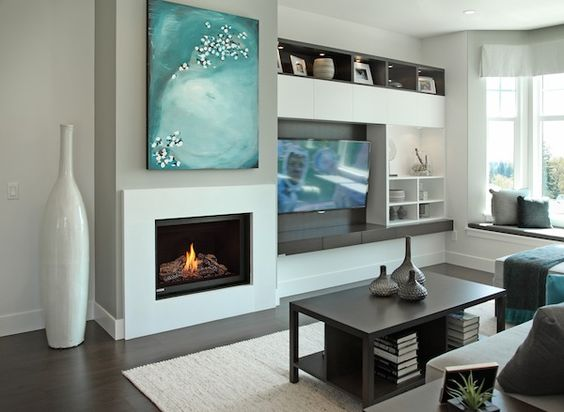 Fireplace Assembly | Modern coastal, Coastal living rooms and ...