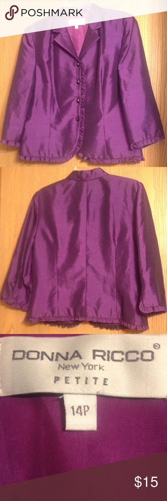 💎💎Donna Ricco Blazer💎💎 Purple Dress blazer Donna Ricco Jackets & Coats Blazers