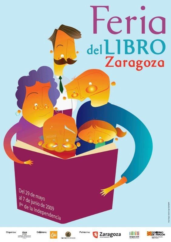 Cartel de la Feria del Libro de Zaragoza 2009: