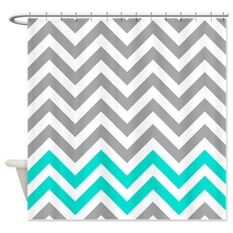 Curtains Ideas coral chevron shower curtain : Gray And Turquoise 1 Chevrons Shower Curtain | Chevron shower ...