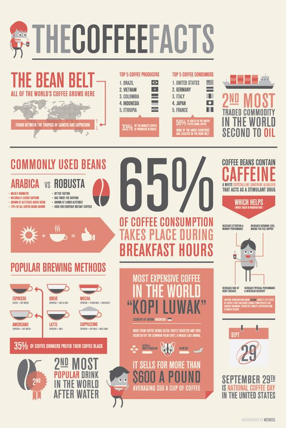 Cool Facts About Coffee Infographics, Coffee facts and Coffee - fact sheet template