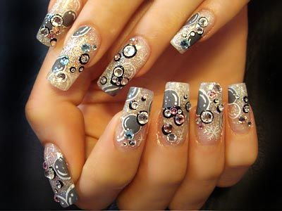 Crystals and Sparkles...this is busy, but I like it. No, I love it!