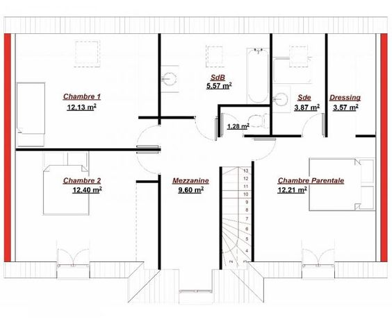 Le plan de la maison Maison de reve Pinterest