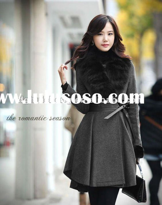 leather Ladies Winter Coats | ladies long wool winter coats and