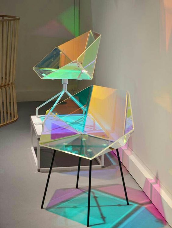 Holographic chairs pinterest chairs for Cool modern chairs