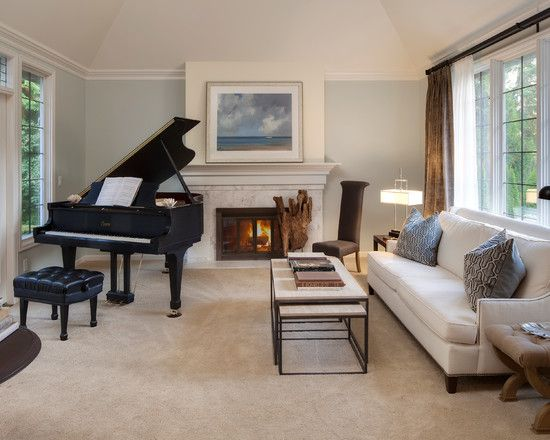 Grand piano design pictures remodel decor and ideas for How to place a piano in a room