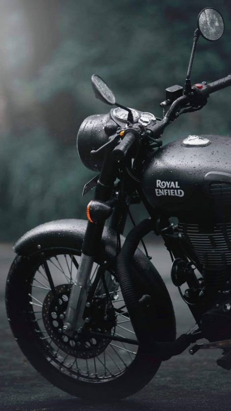 Royal Enfield Classic 350 Bs6 Stealth Black Wallpaper ...