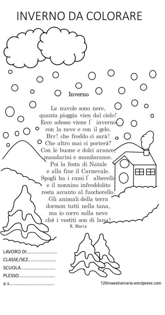 Libretto Sulla Stagione Invernale Da Colorare Disegni Sull