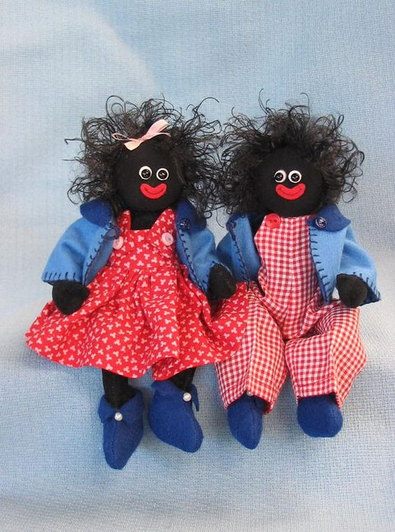 Jily and Jolly   A golly pattern by LesBears on Etsy, $13.00
