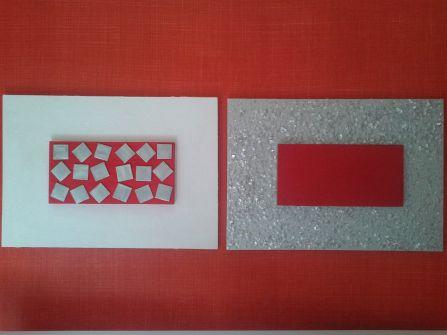 Textura de latinha, cascas de ovos, isopor e papel higiênico