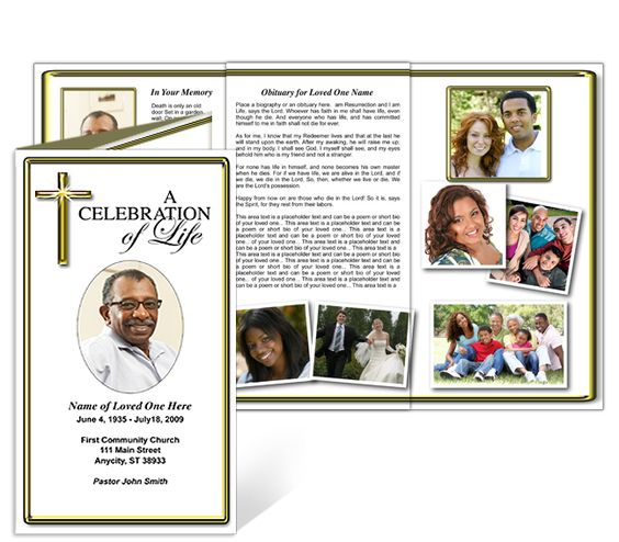 Funeral Brochure Printable Downoad Tri Fold Brochures Template – Free Printable Tri Fold Brochure Template